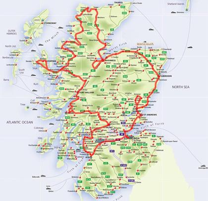 Scozia Cartina Stradale.Aprile Maggio 2008 Scozia